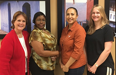TCC Confence Office staff: Jerri Oreson, RaDell Gibbs, Elisabel Bordallo and Jessica Van Amburgh