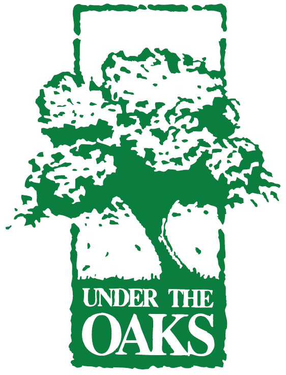 Under the Oaks logo with green tree