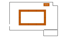 room schematic in square shape