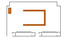 """room schematic in """"U"""" shape"""